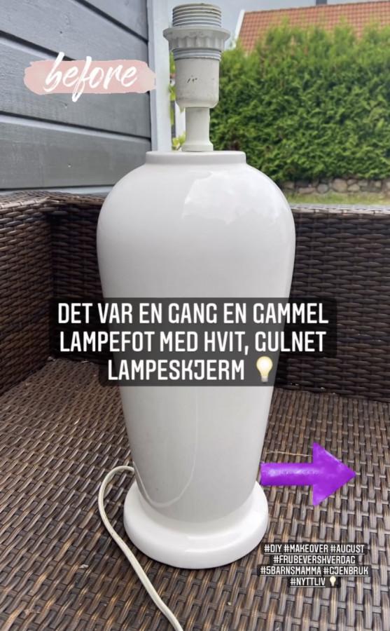 Gjenbruk lampe - helt ny stil! (FruBeversHverdag)