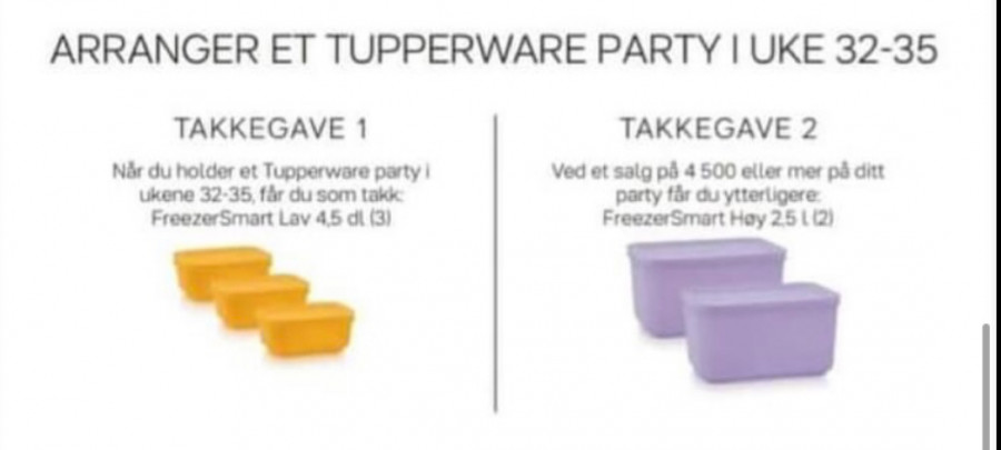 Takkegave Tupperware online party - FruBeversHverdag