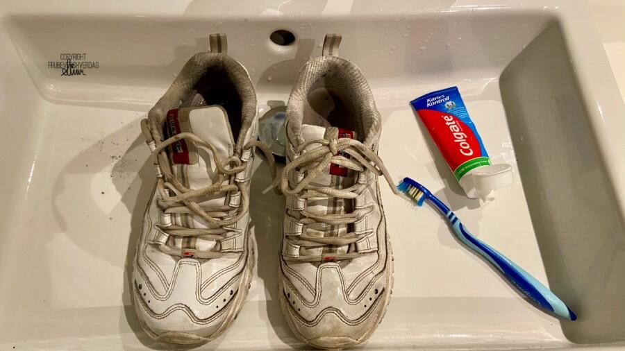 Tannpuss for å få skoene hvite igjen?  [FruBeversHverdag]